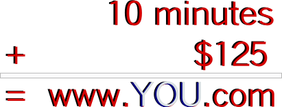 10 minutes to a great website free hosting domain included